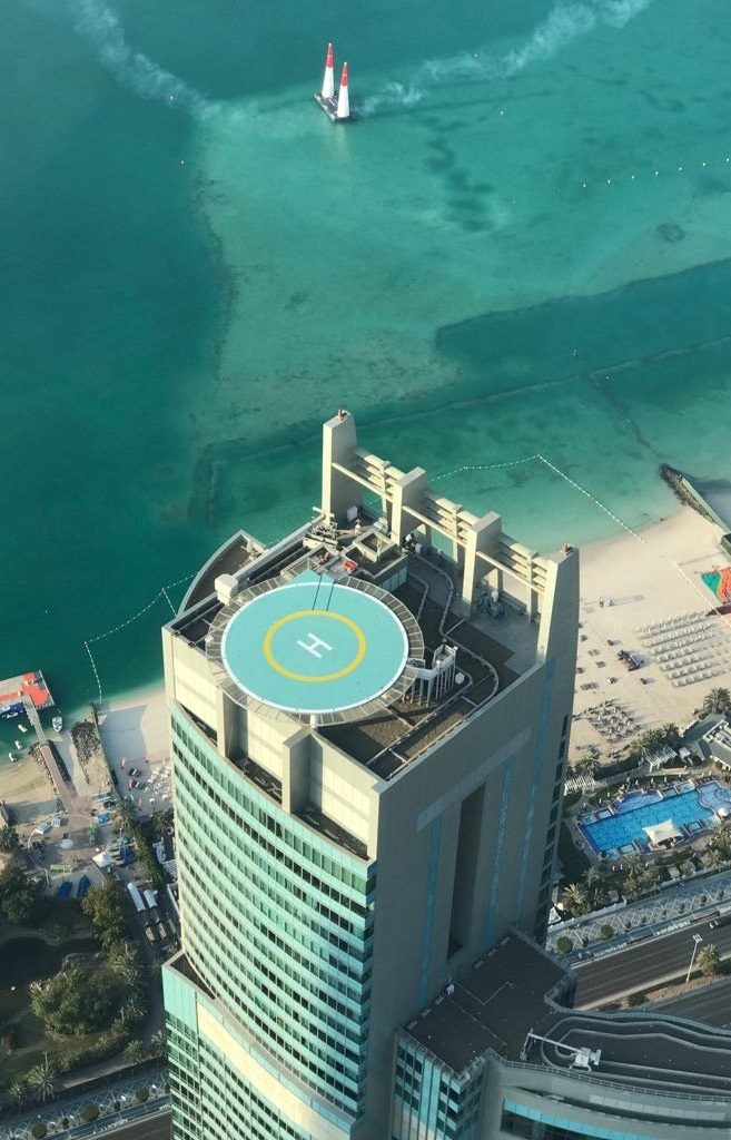 Nation Towers Heliport Top View Tower B