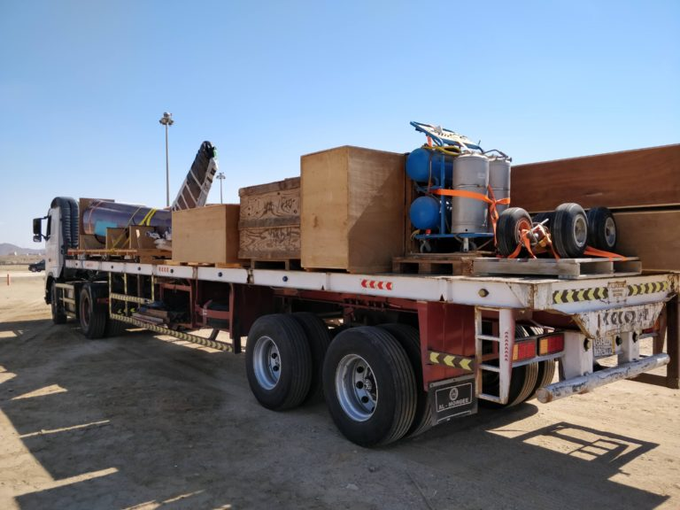 Truck with equipment